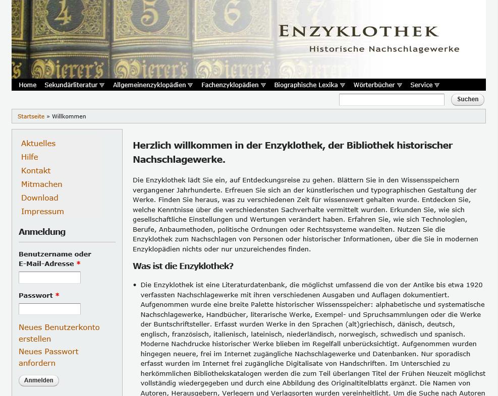 Startseite enzyklothek.de