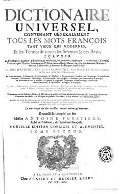 Furetière 1691 – Dictionnaire universel | Enzyklothek
